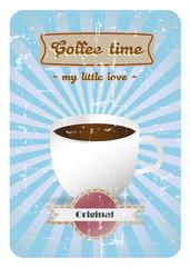 Coffee time retro poster