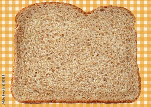 Fresh and nutritious whole wheat bread on abstract background
