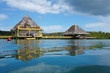 Tropical bungalow and restaurant over the sea