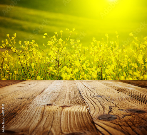 Abstract natural backgrounds, wood table