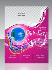 abstract disco club flyer