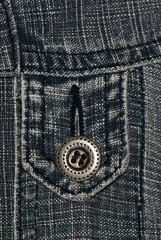 Jeans loops with a button