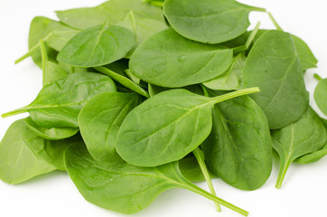 Spinach, isolated on white