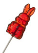 Red Easter Bunny Lollipop isolated w/ clipping path