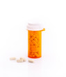 Pills and supplementary food bottle isolated