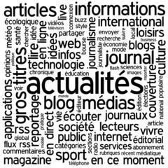 """Thème """"ACTUALITES"""" (blog informations médias réseaux sociaux)"""