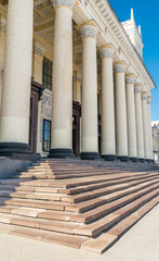 Pillars in Blue Sky, Train Station, Kharkov, Ukraine