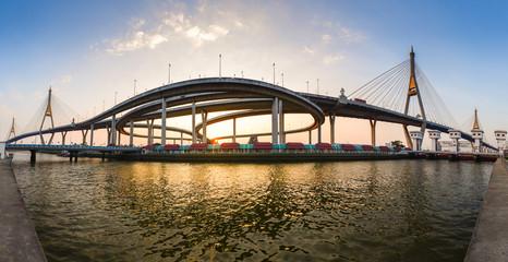 Bhumibol Bridge Panorama