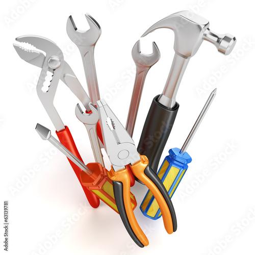 Leinwanddruck Bild Home improvements tools isolated
