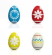 """Easter egg with grange """"Happy Easter"""" stamp isolated,"""