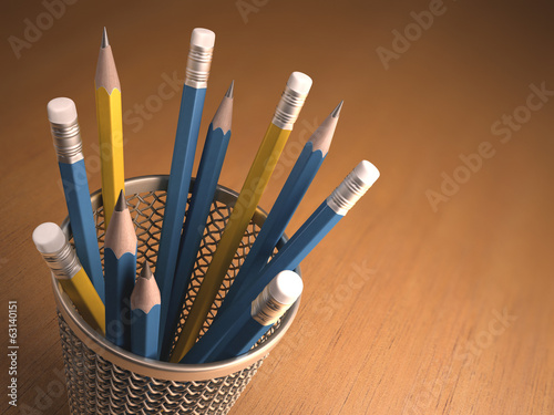 Pencils. Clipping path included.