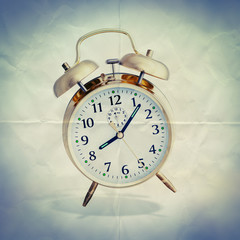 alarm clock paper background