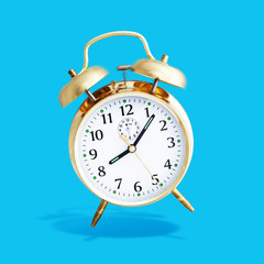 alarm clock blue background