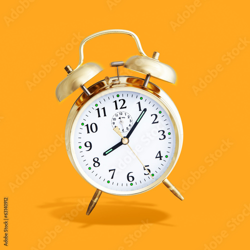 alarm clock orange background