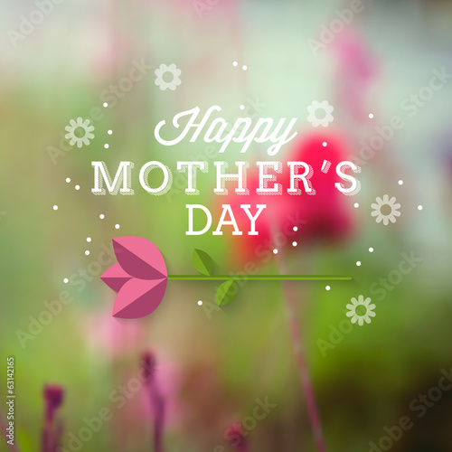 Typography poster design for Mother's Day. Vector illustration