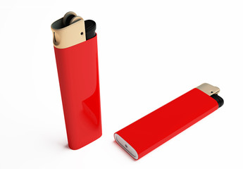 red cigarette lighter