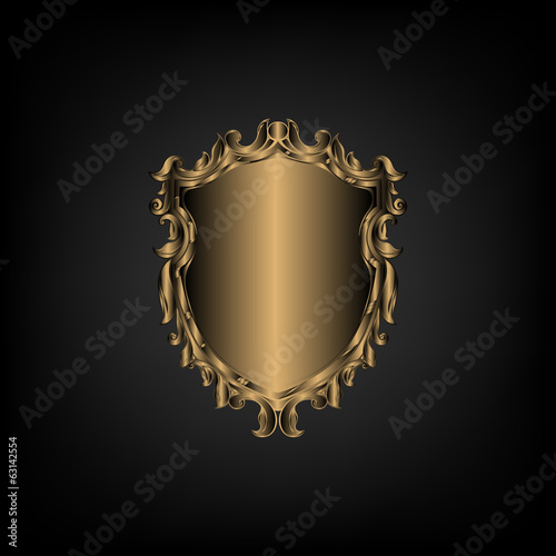 Vintage emblem. Emblem antique, banner. Vector illustration.