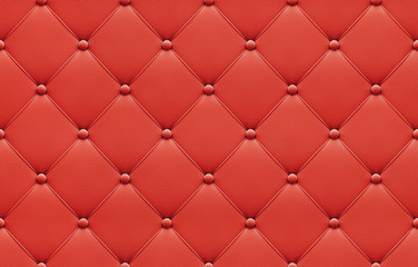 Seamless red leather upholstery pattern