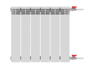 Heating radiator with thermostat isolated