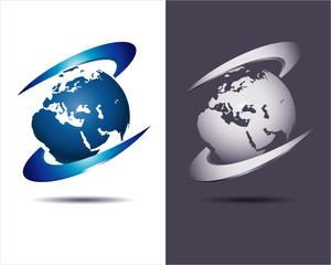 globe blue icon