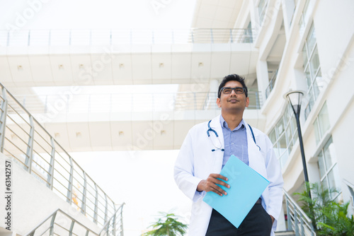 indian male doctor at hospital