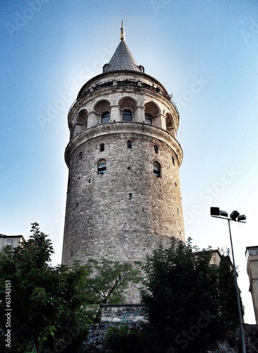 Galata tower in the center of Istanbul