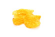 Spicy Potato Chips Isolated Over White