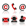 contact button set, black and red