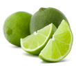 Citrus lime fruit isolated on white background cutout