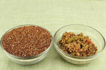 Raw and Prepared Quinoa