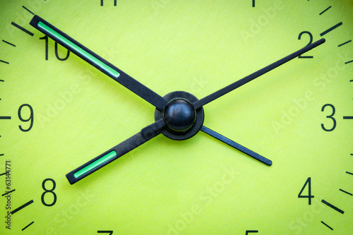 Green clock face