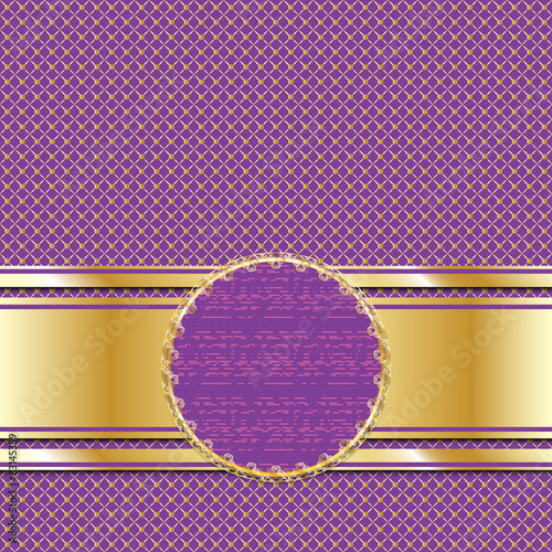 Ornate golden lilac background for presentation