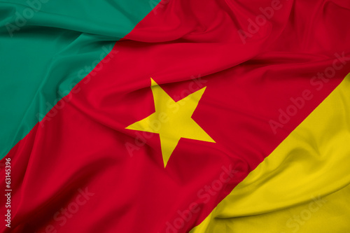 Waving Cameroon Flag