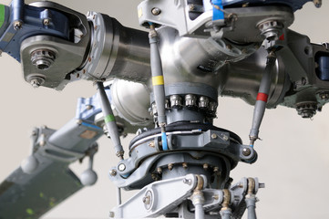 Close-up of a helicopter rotor