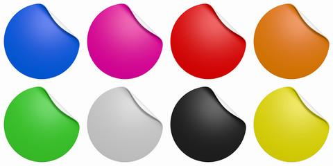 Farbige Button Sammlung isoliert