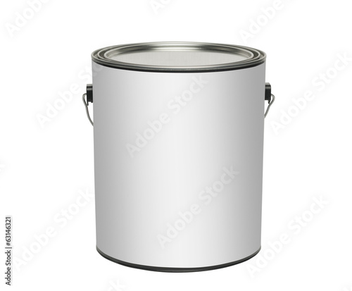 canvas print picture Paint can, isolated with clipping path