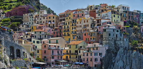 Colorful houses of Manarola.