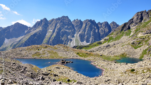 lake and mountains High Tatras, Slovakia, Europe