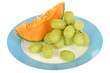 Cantaloupe Melon with Grapes