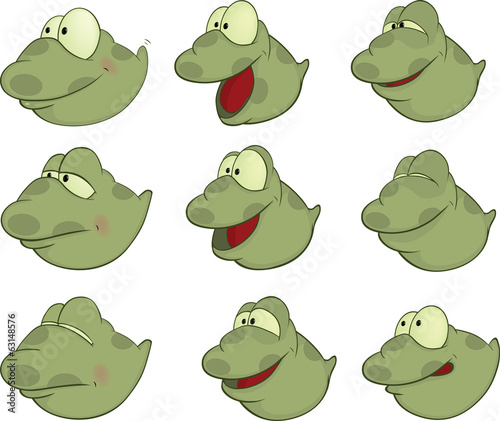 Set of Tadpoles Cartoons