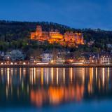 Heidelberger Schloss bei Nacht