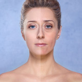 Beauty / Photo retouch, before and after poster
