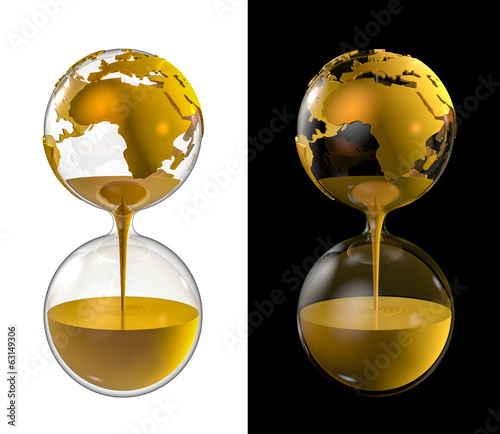 World gold hourglass