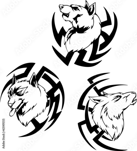 Predator wolf head tattoos