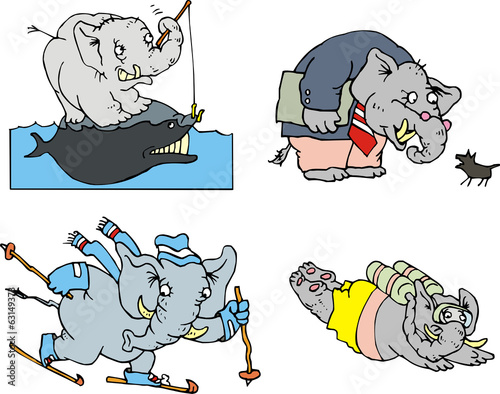 Comic elephants
