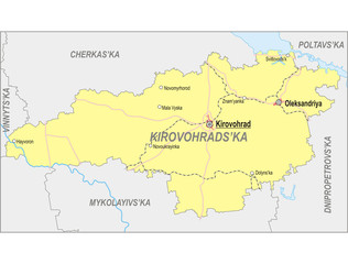 Map of Kirovohrad Oblast