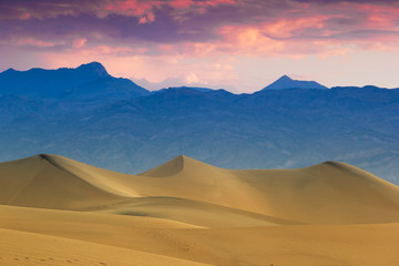 Twilight at Mesquite Flat Sand Dunes, Death Valley, California