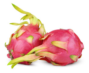 Dragon fruit or pitaya isolated on white with clipping path
