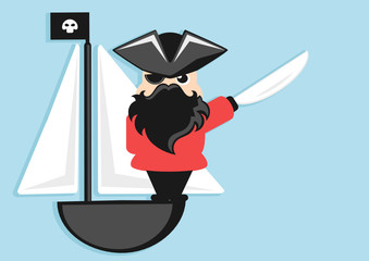 pirate cartoon character with sword