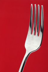 Dining fork closeup with copyspace